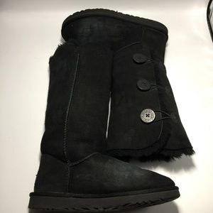 UGG Bailey Button Triplet Suede Boots